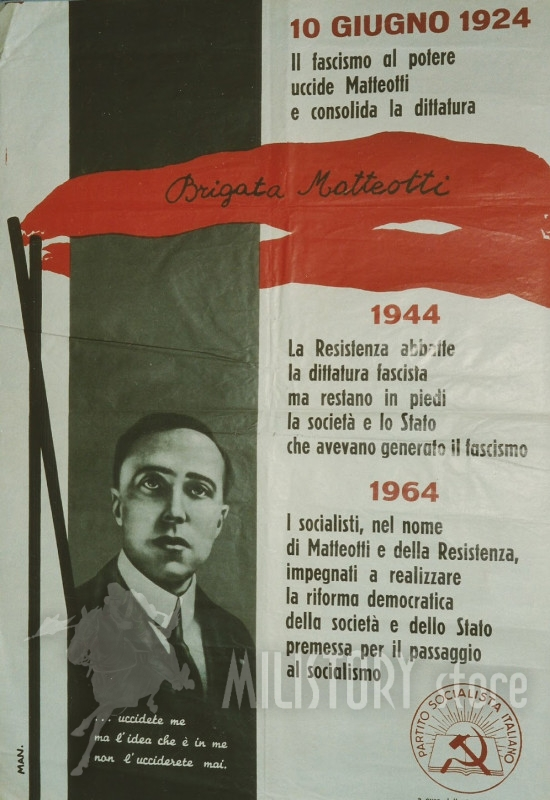 1924,+1944,+1964,+Matteotti,+brigate+Mattetteotti,+PSI