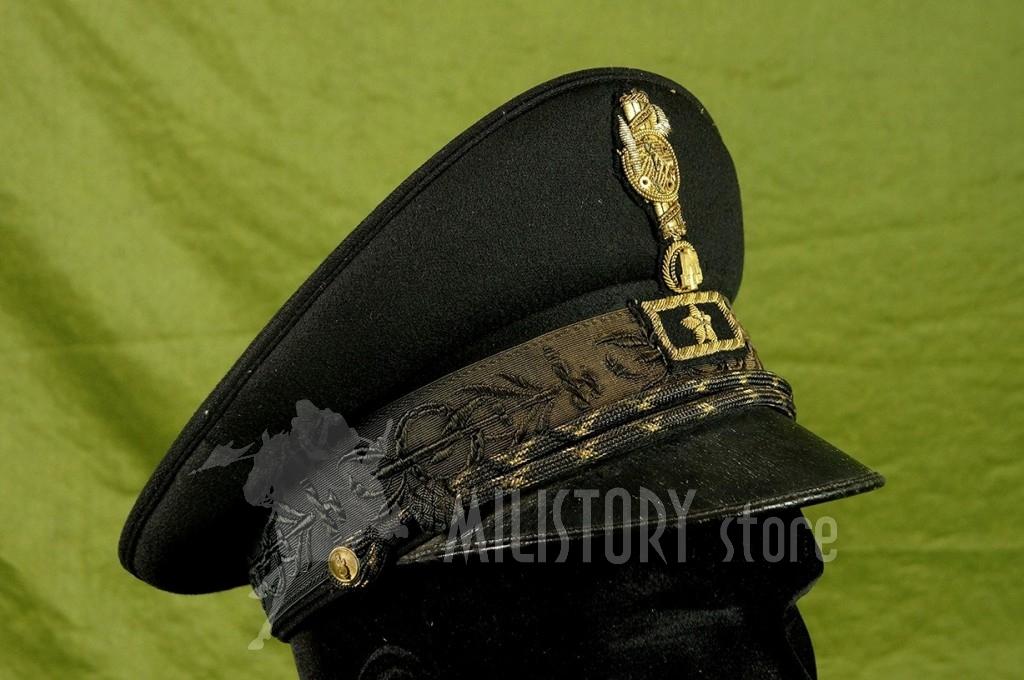Berretto Gerarca PNF Ruolo GIL Segretario Federale fascista uniforme nera fez (4)
